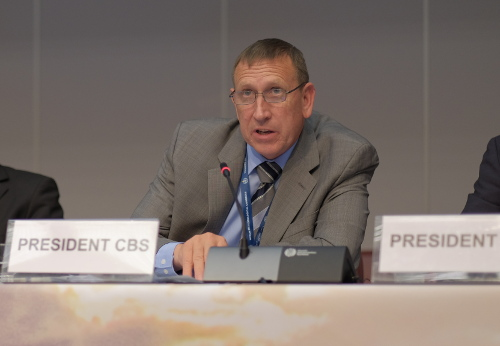 Technical Commissions / CBS President F Branski / Photo WMO-Braathen