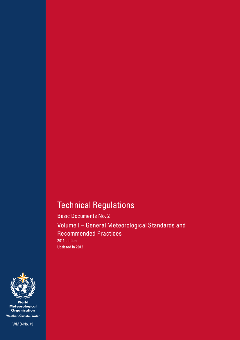 Technical Regulations / WMO