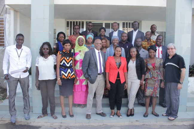 Participants and trainers at the Weather Presenter workshop for West Africa, Dakar, Senegal, 2015